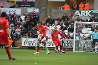 Pictured: Ashley Williams of Swansea City in action<br /> Re: Coca Cola Championship, Swansea City Football Club v Watford at the Liberty Stadium, Swansea, south Wales 09 November 2008.<br /> Picture by Dimitrios Legakis Photography (Athena Picture Agency), Swansea, 07815441513
