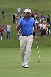 Graeme McDowell sinks his putt on the 16th on the final day of the Celtic Manor Wales Open 2010.Picture Fran Caffrey/Newsfile.ie