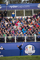 25.09.2014. Gleneagles, Auchterarder, Perthshire, Scotland.  The Ryder Cup.  Martin Kaymer (EUR) tees of on the first hole during his practise round.