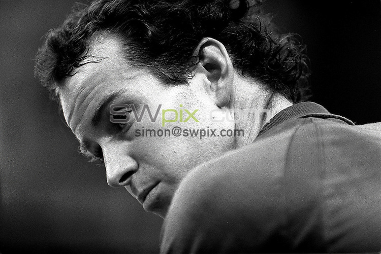 Pix:Michael Steele/SWpix... Tennis. John McEnroe, Alexander Palace, London. 1987...COPYRIGHT PICTURE>>SIMON WILKINSON..John McEnroe. Alexander Palace, London.