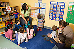 Preschool day care all day program for toddlers circle time talking about schedule for the day