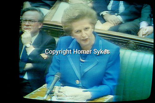 Mts Thatcher resignation speech House of Commons 22 11 1990 as shown on TV live.
