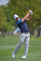 Ryan Blaum (USA) watches his approach shot on 1 during day 2 of the Valero Texas Open, at the TPC San Antonio Oaks Course, San Antonio, Texas, USA. 4/5/2019.<br /> Picture: Golffile | Ken Murray<br /> <br /> <br /> All photo usage must carry mandatory copyright credit (&copy; Golffile | Ken Murray)