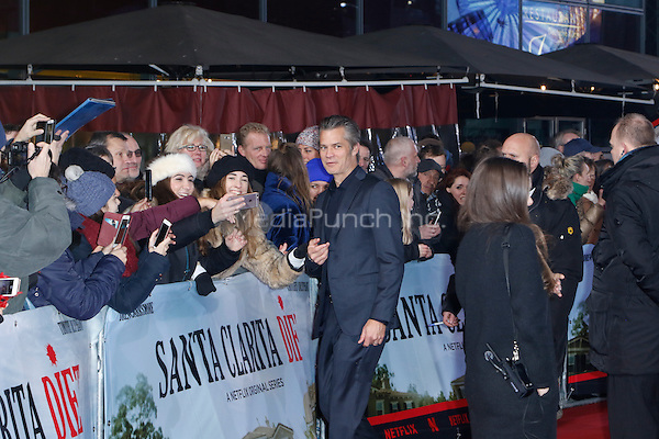 Timothy Olyphant attending the &quot;Santa Clarita Diet&quot; premiere held at CineStar, Sony Center, Potsdamer Platz, Berlin, Germany, 20.01.2017. <br /> Photo by Christopher Tamcke/insight media /MediaPunch ***FOR USA ONLY***