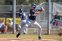 Georgetown Hoyas designated hitter Nick Collins (33) at bat during a game against the South Dakota State JackRabbitsat South County Regional Park on March 9, 2014 in Port Charlotte, Florida.  Georgetown defeated South Dakota 7-4.  (Mike Janes/Four Seam Images)