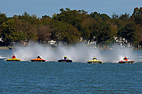 "J. P. Squires, S-83 ""Mega Bucks"", Al Thompson, S-92 ""Tenacity"", Grant Hearn, S-14 ""Legacy 2"", Pat Haworth, S-80 ""On The Edge"", Doug Martin,S-33 ""Keen's Sunday Money""            (2.5 Litre Stock hydroplane(s)"