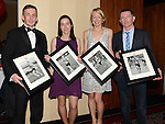 Award winners Patrick O'Grady Best Male, Suzanne McCabe Female Newcomer, Mary Leech Best Female and Eoin McGinn Best Male Newcomer pictured at the Drogheda Athletic Club annual dinner in the Westcourt Hotel. Photo:Colin Bell/pressphotos.ie