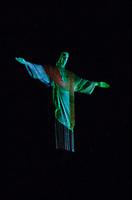 RIO DE JANEIRO,RJ, 31.12.2018 - CRISTO-RJ - Monumento Cristo Redentor faz espetaculo de arte e tecnologia no ultimo dia de 2018, Humaitá, Zona Sul, Rio de Janeiro, 31 (Foto: Vanessa Ataliba/Brazil Photo Press/Folhapress)