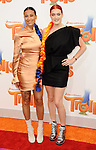 Icona Pop Aino Jawo and Caroline Hjelt arriving at the Los Angeles premiere of Trolls held at the Regency Village Theater Westwood, CA. October 23, 2016.