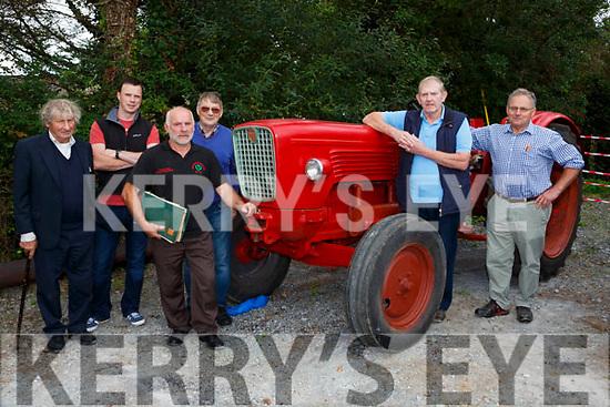John Fiztgerald, Farmers Bridge, Paul and Teddy Murphy Abbeyfeale, Jack Leonard Banteer, tuddy Clifford Beaufort and Pat Gill Neanagh at the Mid Kerry Vintage Rally in Castlemaine on Sunday