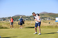 Shay Given playing with Dylan Frittelli (RSA) during the ProAm of the 2018 Dubai Duty Free Irish Open, Ballyliffin Golf Club, Ballyliffin, Co Donegal, Ireland.<br /> Picture: Golffile | Jenny Matthews<br /> <br /> <br /> All photo usage must carry mandatory copyright credit (&copy; Golffile | Jenny Matthews)