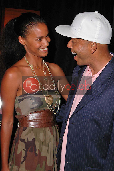 Joy Bryant and Russell Simmons<br />at the 3rd Annual Work Hard, Play Harder Lounge benefitting Women For The World. W Hotel, Westwood, CA. 06-25-06<br />Dave Edwards/DailyCeleb.com 818-249-4998