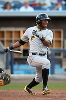Bradenton Marauders outfielder Mel Rojas #3 during a game against the Charlotte Stone Crabs at Charlotte Sports Park on April 27, 2012 in Port Charlotte, Florida.  Bradenton defeated Charlotte 9-2.  (Mike Janes/Four Seam Images)