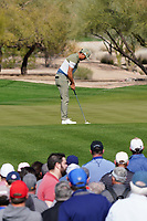 Rickie Fowler (USA) In action during the first round of the Waste Management Phoenix Open, TPC Scottsdale, Phoenix, USA. 29/01/2020<br /> Picture: Golffile | Phil INGLIS<br /> <br /> <br /> All photo usage must carry mandatory copyright credit (© Golffile | Phil Inglis)