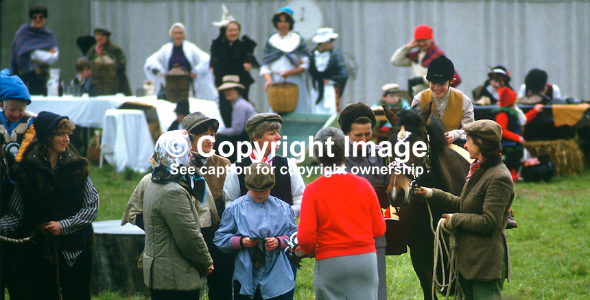 Princess Royal, Princess Anne, at a Riding for the Disabled event in Co Fermanagh during a royal visit to N Ireland, May 1985. 19850503k..Copyright Image from Victor Patterson, 54 Dorchester Park, Belfast, UK, BT9 6RJ..Tel: +44 28 9066 1296.Mob: +44 7802 353836.Voicemail +44 20 8816 7153.Skype: victorpattersonbelfast.Email: victorpatterson@me.com.Email: victorpatterson@ireland.com (back-up)..IMPORTANT: If you wish to use this image or any other of my images please go to www.victorpatterson.com and click on the Terms & Conditions. Then contact me by email or phone with the reference number(s) of the image(s) concerned.