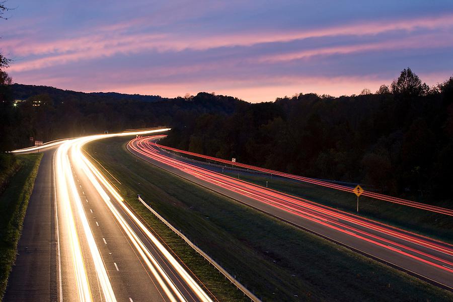 Transportation in Charlottesville, VA.  Credit Image: © Andrew Shurtleff