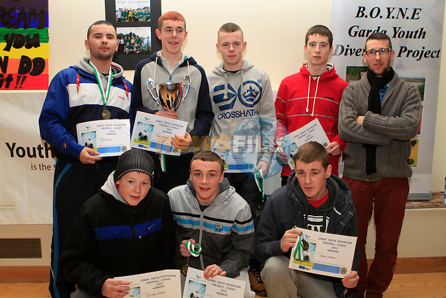Garda Youth Diversion Football League 2012 Winners at the Boyne Garda Youth Project Awards in the Holy Family Community Centre...Photo NEWSFILE/Jenny Matthews..(Photo credit should read Jenny Matthews/NEWSFILE)