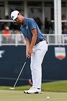 Brandon Wu (USA) watches his putt on 18 during round 4 of the 2019 Houston Open, Golf Club of Houston, Houston, Texas, USA. 10/13/2019.<br /> Picture Ken Murray / Golffile.ie<br /> <br /> All photo usage must carry mandatory copyright credit (© Golffile | Ken Murray)