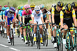 White Jersey Pierre Latour (FRA) AG2R La Mondiale amongst the peloton during Stage 15 of the 2018 Tour de France running 181.5km from Millau to Carcassonne, France. 22nd July 2018. <br /> Picture: ASO/Alex Broadway | Cyclefile<br /> All photos usage must carry mandatory copyright credit (&copy; Cyclefile | ASO/Alex Broadway)