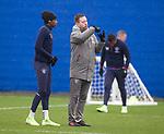 28.02.2020 Rangers training: Joe Aribo and Michael Beale