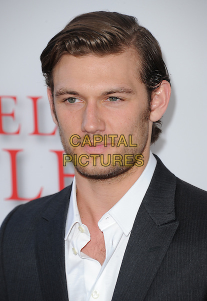 Alex Pettyfer<br /> &quot;Lee Daniels' The Butler&quot; Los Angeles Premiere held at Regal Cinemas L.A. Live, Los Angeles, California, USA.        <br /> August 12th, 2013    <br /> headshot portrait white shirt black suit jacket stubble facial hair <br /> CAP/DVS<br /> &copy;DVS/Capital Pictures