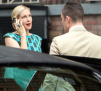 August 10, 2012 Ed Westwick, Kelly Rutherford shooting on location for  Gossip Girl in New York City.Credit:&copy; RW/MediaPunch Inc. /NortePhoto.com*<br />
