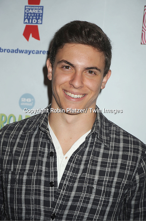 Derek Klena attends the 26th Annual Broadway Flea Market and Grand Auction benefitting Broadway Cares/ Equity Fights Aids on September 23, 2012 at the Shubert Theatre in New York City.