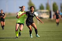 Irvine, CA - July 09, 2019: U.S. Soccer Girls' DA U-16/17 Semifinal Solar Soccer Club vs Beach Futbol Club at Great Park.