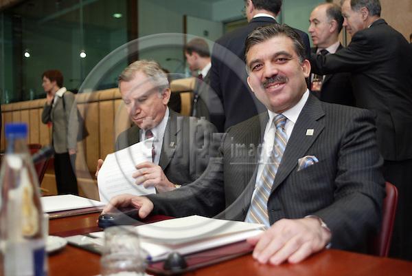 Belgium--Brussels--Council--informell extraordinary Meeting 18.02.2003         .Abdullah G?L (Guel, Guel) , Prime Minister , Turkey ;            .Portrait ;                 . PHOTO: EUP-IMAGES.COM / ANNA-MARIA ROMANELLI