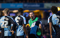 Paul Hayes of Wycombe Wanderers gives a half time team talk during the Sky Bet League 2 match between Wycombe Wanderers and Crawley Town at Adams Park, High Wycombe, England on 28 December 2015. Photo by Andy Rowland / PRiME Media Images