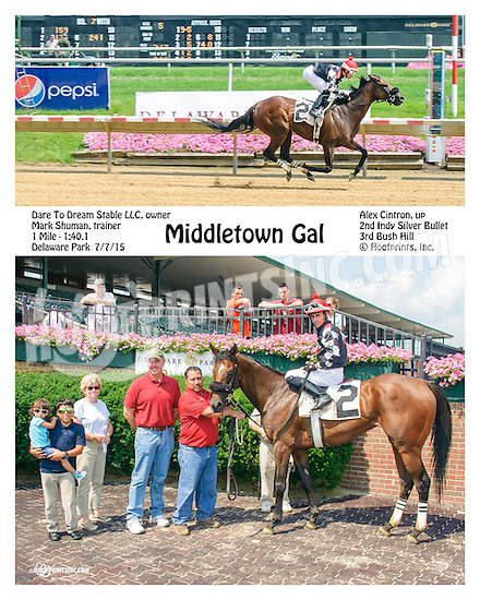 Middletown Gal winning at Delaware Park on 7/7/15