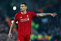 Liverpool's Dejan Lovren gestures<br /> <br /> Photographer Alex Dodd/CameraSport<br /> <br /> UEFA Champions League Group E - Liverpool v Napoli - Wednesday 27th November 2019 - Anfield - Liverpool<br />  <br /> World Copyright © 2018 CameraSport. All rights reserved. 43 Linden Ave. Countesthorpe. Leicester. England. LE8 5PG - Tel: +44 (0) 116 277 4147 - admin@camerasport.com - www.camerasport.com