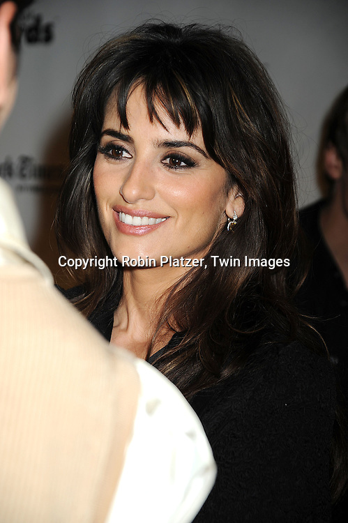 actress and honoree Penelope Cruz..posing for photographers at the 18th Annual Gotham Independent Film Awards on December 2, 2008 in New York. ....Robin Platzer, Twin Images