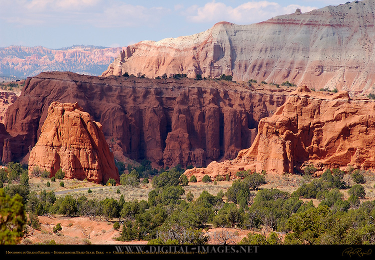 Hoodoos in Grand Parade, View from Sentinel Trail, Kodachrome Basin State Park, Grand Staircase Escalante, Utah