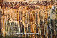 64745-00204 Pictured Rocks National Lakeshore in fall from Lake Superior near Munising MI