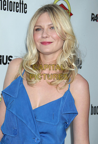 """Kirsten Dunst.""""Bachelorette"""" - Los Angeles Premiere Held at ArcLight Cinemas, Hollywood, California, USA, .23rd August 2012..half length make-up beauty  blue ruffle buttons .CAP/ADM/RE.©Russ Elliot/AdMedia/Capital Pictures."""