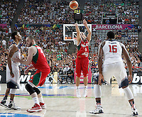 Mexico's Paul Stoll during 2014 FIBA Basketball World Cup Round of 16 match.September 6,2014.(ALTERPHOTOS/Acero)