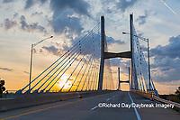65095-02901 Bill Emerson Memorial Bridge at sunrise over Mississippi River Cape Girardeau  MO