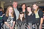 NIGHT AT THE DOGS: Clodagh Culloty and Michelle McCarthy, Abbeydorney celebrating their Conformation with family and friends at the Kingdom Greyhound Stadium on Friday l-r: Clodagh Culloty, Ger McCarthy, Emma Carmody, Liz McCarthy, Michelle McCarthy and Niamh O'Connor.
