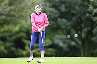 Linda Dean (Malone) during the final  of the Ulster Mixed Foursomes at Killymoon Golf Club, Belfast, Northern Ireland. 26/08/2017<br /> Picture: Fran Caffrey / Golffile<br /> <br /> All photo usage must carry mandatory copyright credit (&copy; Golffile | Fran Caffrey)
