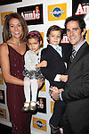 Andy Blankenbuehler with wife Elly & Kids attending the Broadway Opening Night Performance of 'Annie' at the Palace Theatre in New York City on 11/08/2012