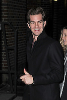 www.acepixs.com<br />  January 10, 2017 New York City<br /> <br /> Andrew Garfield arriving to tape an appearance on 'The Late Show with Stephen Colbert' on January 10, 2017 in New York City.<br /> <br /> Credit: Kristin Callahan/ACE Pictures<br /> <br /> Tel: (646) 769 0430<br /> e-mail: info@acepixs.com