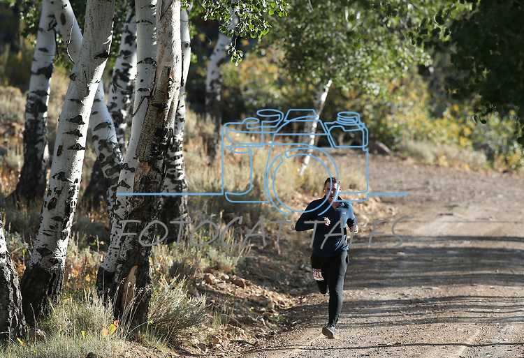 10K runner Michael Berry competes in the 8th annual Take it to the Lake race at Cave Lake State Park, near Ely, Nev., on Saturday, Sept. 21, 2019.<br /> Photo by Cathleen Allison/Nevada Momentum