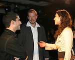 "AMC's  Eden Riegel ""Bianca Montgomery"" joins Fritz Brekeller (stage manager - AMC) at the play My Life As You on September 15, 2006 at the Producers Club II, NYC. The play is directed by Fritz Brekeller (now stage manager at AMC and previously ATWT and other) and written by Laura Rohrman. (Photo by Sue Coflin/Max Photos)"
