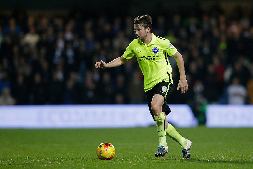 Brighton &amp; Hove Albion's Dale Stephens in action during todays match  <br /> <br /> Photographer Craig Mercer/CameraSport<br /> <br /> Football - The Football League Sky Bet Championship - Queens Park Rangers v Brighton and Hove Albion - Tuesday 15th December 2015 - Loftus Road<br /> <br /> &copy; CameraSport - 43 Linden Ave. Countesthorpe. Leicester. England. LE8 5PG - Tel: +44 (0) 116 277 4147 - admin@camerasport.com - www.camerasport.com