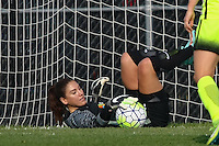 Piscataway, NJ - Sunday June 19, 2016: Hope Solo during a regular season National Women's Soccer League (NWSL) match between Sky Blue FC and Seattle Reign FC at Yurcak Field.
