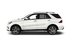 Car Driver side profile view of a 2017 Mercedes Benz GLE AMG-43 5 Door SUV Side View