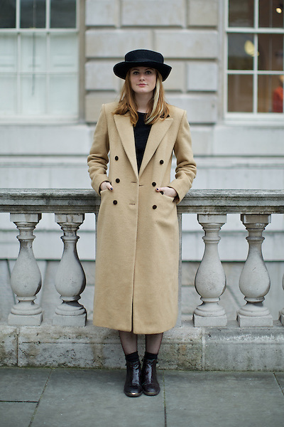 Christabel MacGreevy  London Fashion Week Street Style at Somerset House