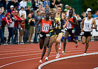 EUGENE, OR--Bernard Kiptum competes in the mens 2 mile during the Steve Prefontaine Classic, Hayward Field, Eugene, OR. SUNDAY, JUNE 10, 2007. PHOTO © 2007 DON FERIA