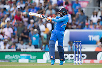 Ravindra Jadeja (India) pulls a short delivery to the square boundary during India vs New Zealand, ICC World Cup Warm-Up Match Cricket at the Kia Oval on 25th May 2019